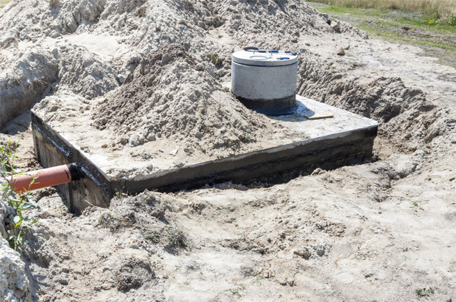 This is a picture of a septic inspection.
