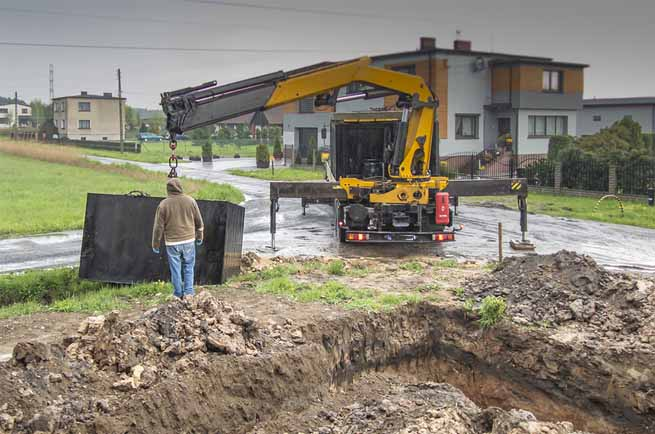 This is a picture of a septic installation.