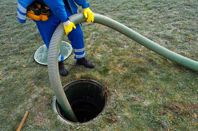 This is a picture of a septic tank pumping cleaning.