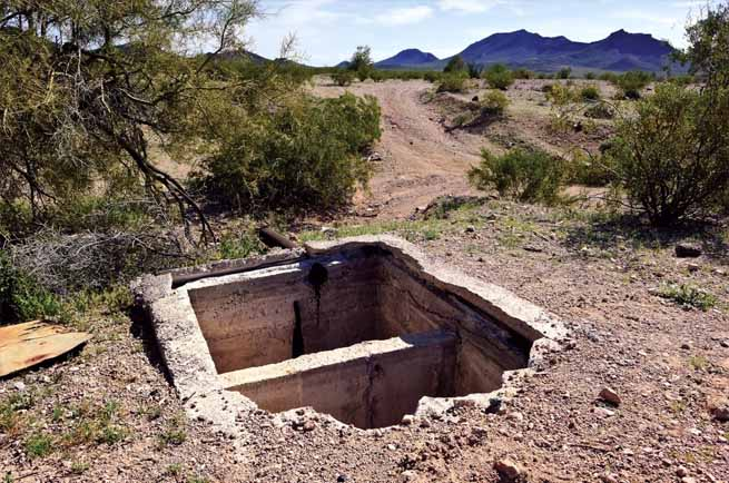 This is a picture of a septic tank repair.