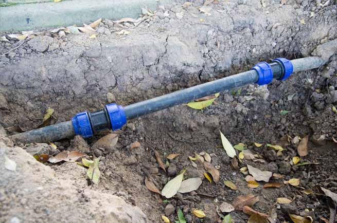 This is a picture of a sewer line repair replacement.